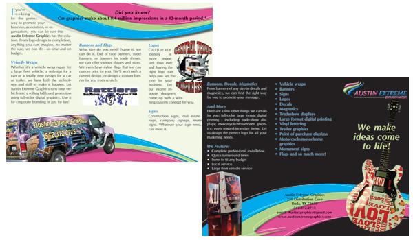 brochure design austin - custom brochures trifolds sales pieces austin texas