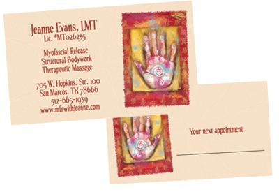 Q2 design business cards custom designed austin texas massage therapist 1 colourmoves