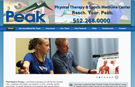 Peak Physical Therapy website, Kyle, Texas