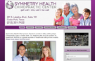 Symmetry Health Chiropractic website, Cedar Park, Texas